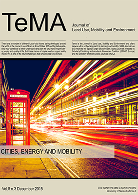 Vol 8, N° 3 (2015): Cities, Energy and Mobility: Strategies for Consumptions' Reduction
